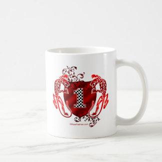 1つのモータースポーツ数トラ コーヒーマグカップ