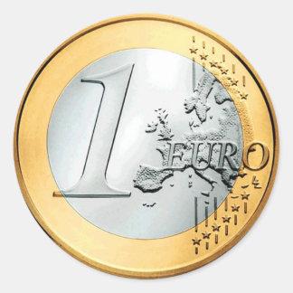 1つのヨーロッパの硬貨(6/20パック) ラウンドシール