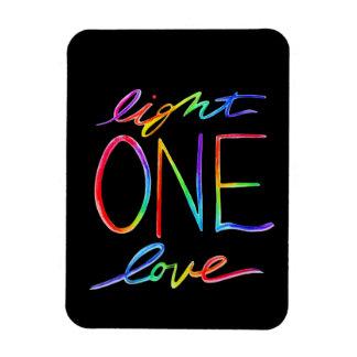1つのライト1愛虹の芸術のカスタムの磁石 マグネット