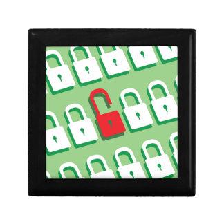 1つのロックが付いているロックのパネルは保証の鍵を開けました ギフトボックス