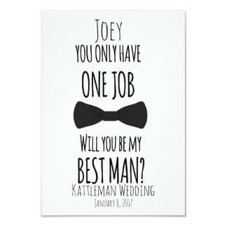 1つの仕事だけをです私の花婿介添人有しますか。 カード