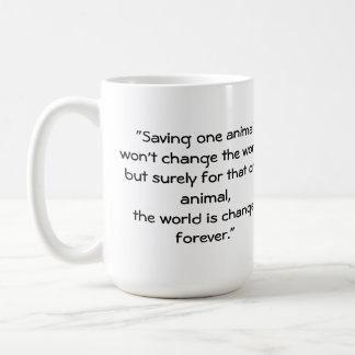 """""""1つの動物の""""コーヒー・マグを救います コーヒーマグカップ"""