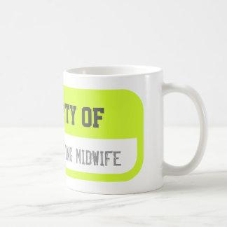 1つの勤勉な助産婦のコーヒー・マグの特性 コーヒーマグカップ