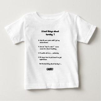 1つの回転についての5つの最も最高のな事 ベビーTシャツ