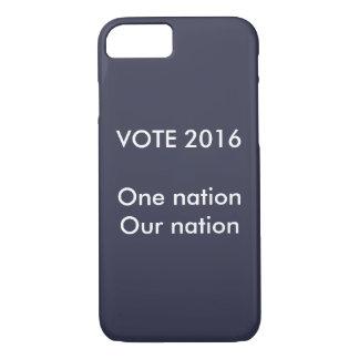 1つの国家、私達の国家の投票 iPhone 8/7ケース
