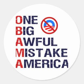1つの大きくひどい間違い、アメリカ ラウンドシール