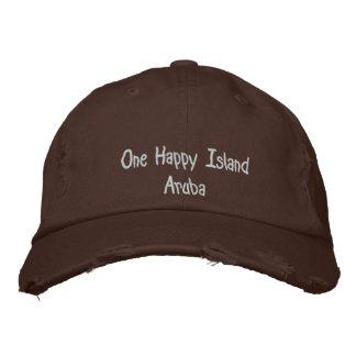 1つの幸せな島アルバ 刺繍入りキャップ