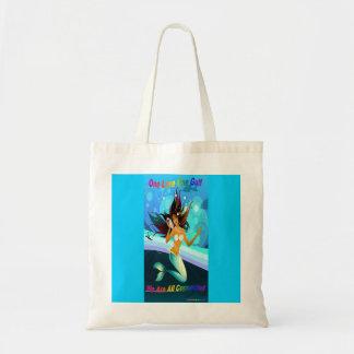 1つの愛1湾の人魚のreuseable布のバッグ トートバッグ