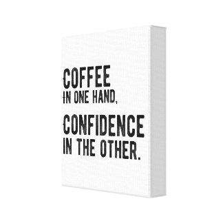 1つの手、他の自信のコーヒー キャンバスプリント