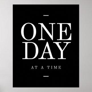 1つの日の感動的な引用文のオフィスポスター黒 ポスター