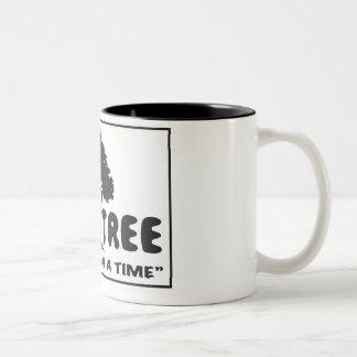 1つの木のロゴツートーンLgのマグ ツートーンマグカップ