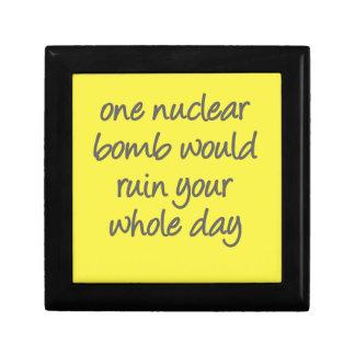 1つの核爆弾はあなたのまる一日を台無しにします ギフトボックス