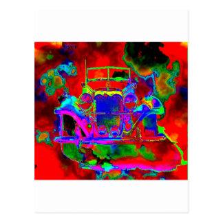 1つの熱いメルセデス ポストカード