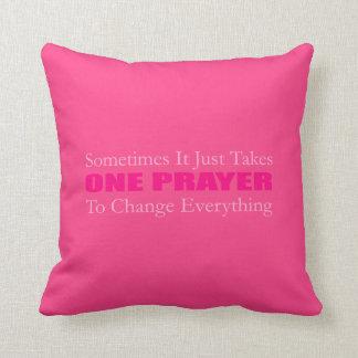 1つの祈りの言葉の枕 クッション