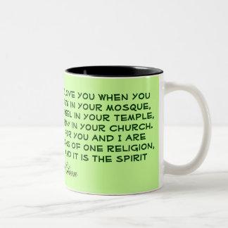 1つの精神のマグ ツートーンマグカップ