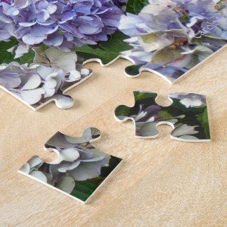 1つの紫色のラベンダーの青のアジサイ パズル