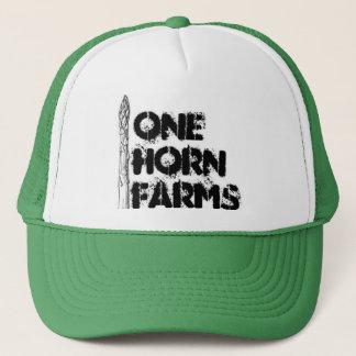 1つの角は帽子を耕作します キャップ