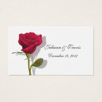 1つの赤いバラの座席表 名刺
