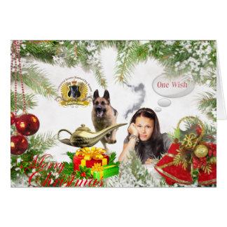 1つの願い-ジャーマン・シェパードのクリスマス グリーティングカード