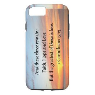 1つのCORINTHIANSの13:13の日の出の写真 iPhone 8/7ケース
