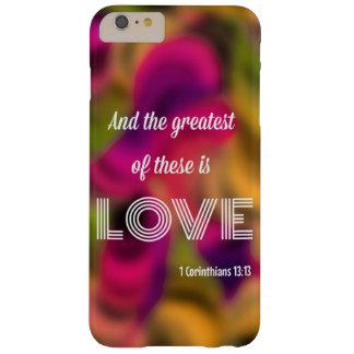 1つのCorinthiansの13:13のiPhone 6のプラスの場合 Barely There iPhone 6 Plus ケース
