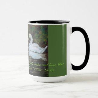 1つのCorinthiansの13:13愛感動的なマグ マグカップ