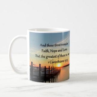 1つのCORINTHIANS 13の日没のデザイン コーヒーマグカップ