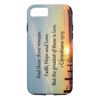 1つのCORINTHIANS 13の日没のデザイン iPhone 8/7ケース