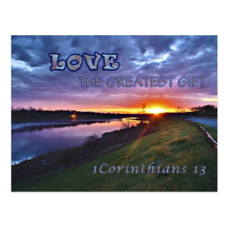 1つのCorinthians 13の郵便はがき ポストカード
