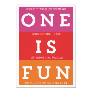 1つはおもしろいのフェスタの最初誕生日のパーティの招待状です カード