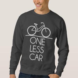 1つより少ない車の地球のフレンドリーな自転車 スウェットシャツ