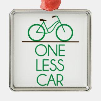 1つより少ない車の地球のフレンドリーな自転車 メタルオーナメント