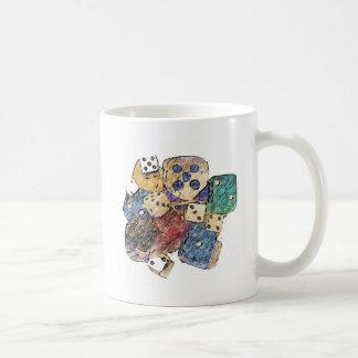 1つを絵を描くサイコロ コーヒーマグカップ