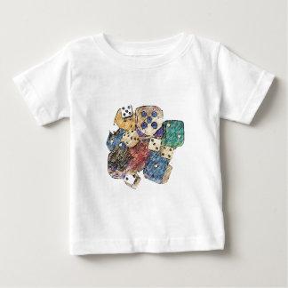 1つを絵を描くサイコロ ベビーTシャツ