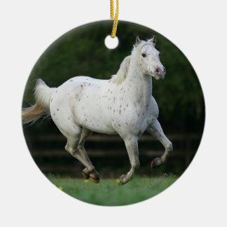 1つを走っているAppaloosaの馬 セラミックオーナメント