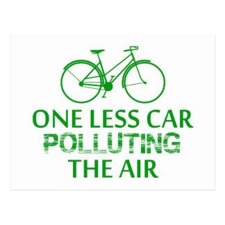 1つ空気を汚すより少ない車 ポストカード