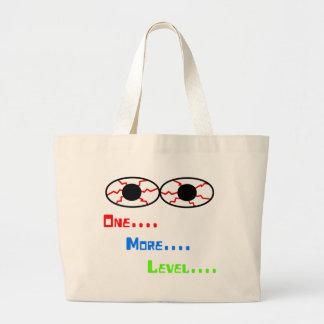 1つ… 多く… レベル… -充血した目 ラージトートバッグ