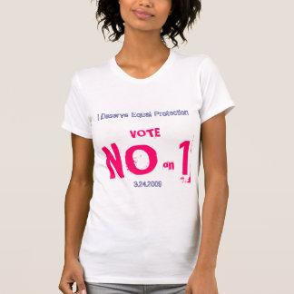 1のいいえ投票しないで下さい Tシャツ