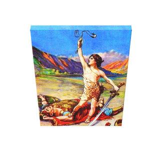 1サミュエル17デイヴィッドは巨大なキャンバスを敗北させます キャンバスプリント