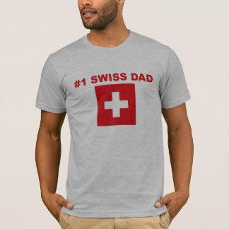 #1スイス人のパパ Tシャツ