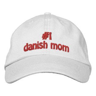 #1デンマーク語のお母さん 刺繍入りキャップ