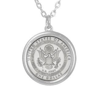 1ドル銀貨のネックレス シルバープレートネックレス