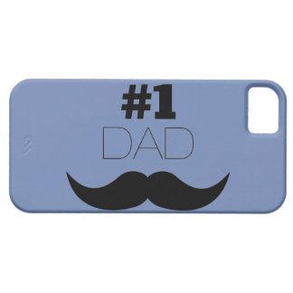 #1パパの青および黒い髭-第1 iPhone SE/5/5s ケース