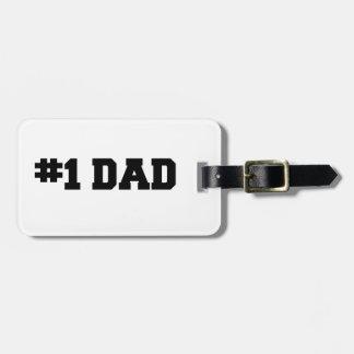 #1パパ の第1パパ の幸せな父の日 ラゲッジタグ