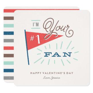 #1ファンのバレンタインデーカード 13.3 スクエアインビテーションカード