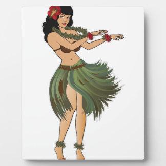 1フラ女の子の踊り フォトプラーク