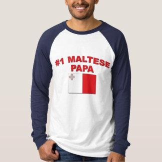 #1マルチーズのパパ Tシャツ
