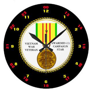 1人のキャンペーン星のベトナム戦争の退役軍人 ラージ壁時計