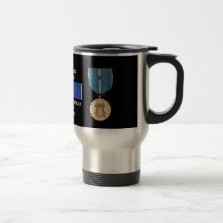 1人の戦いの星の朝鮮戦争の退役軍人 トラベルマグ
