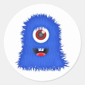 1人の注目された青いモンスター ラウンドシール